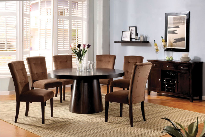 Havana Dining Room Set with Mocha Chairs
