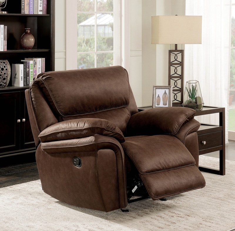 Furniture of america cm6595 helga reclining living room for Furniture of america dallas texas