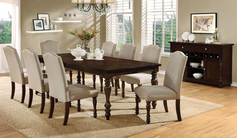 Dallas Designer Furniture Hurdsfield Formal Dining Room Set
