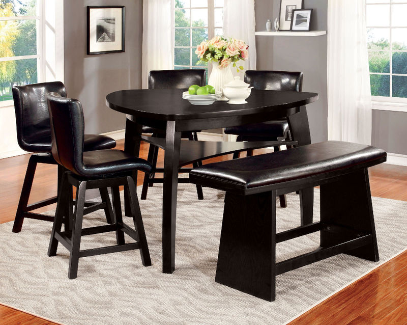 Peachy Furniture Of America Cm3433Pt Hurley Counter Height Dining Room Set Dallas Designer Furniture Download Free Architecture Designs Scobabritishbridgeorg