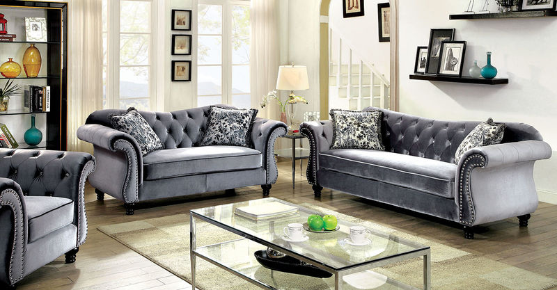 Jolanda Living Room Set in Gray