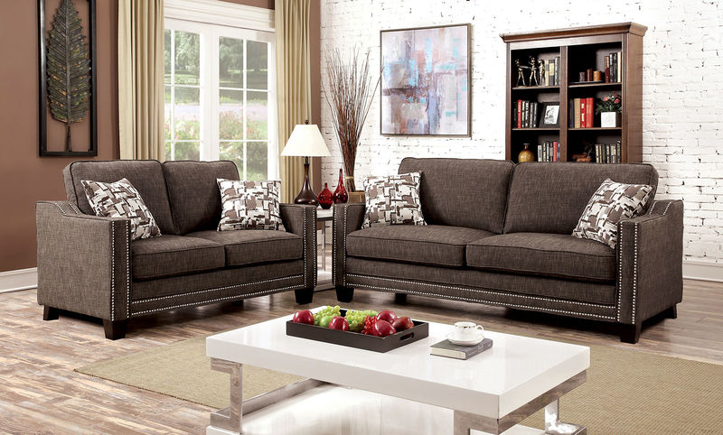 Kerian Living Room Set in Brown