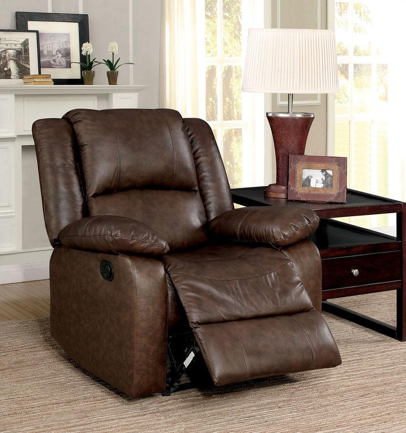 Kris Reclining Leather Living Room Set