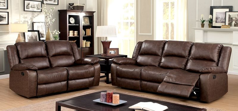 Kris Reclining Leather Living Room Set