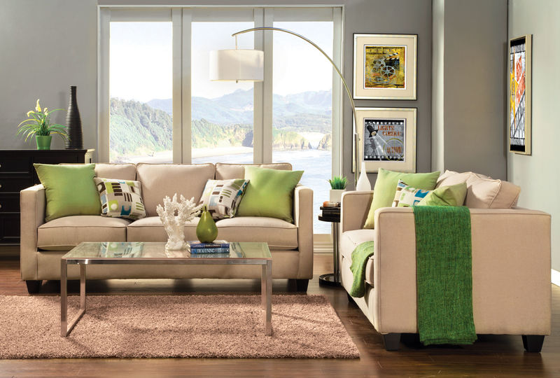 Lasso Living Room Set in Beige