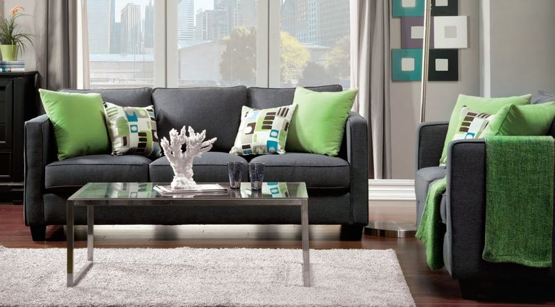 Lasso Living Room Set in Gray