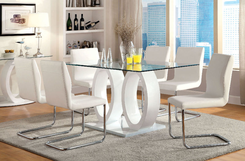 Lodia Dining Room Set in White