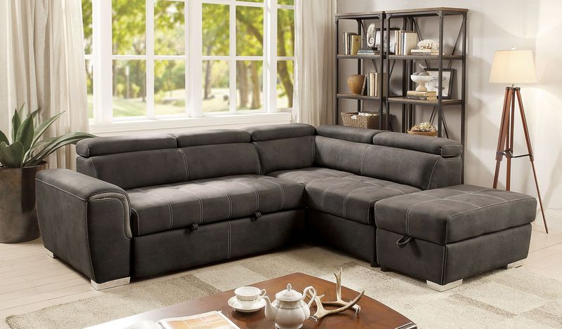 Lorna Sectional Sofa in Graphite