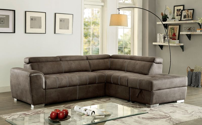 Lorna Sectional Sofa in Brown