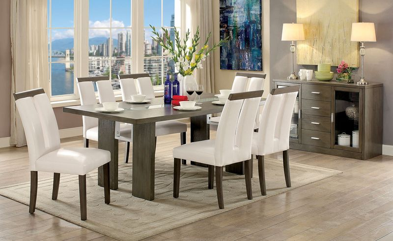 Luminar Dining Room Set in Gray