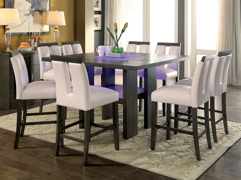 Luminar Counter Height Dining Room Set in Gray