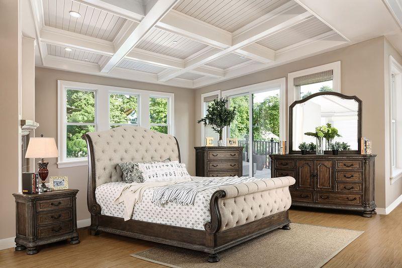 Lysandra Bedroom Set in Rustic Natural Tone