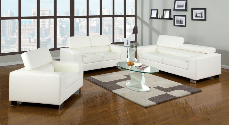 Makri Living Room Set in White