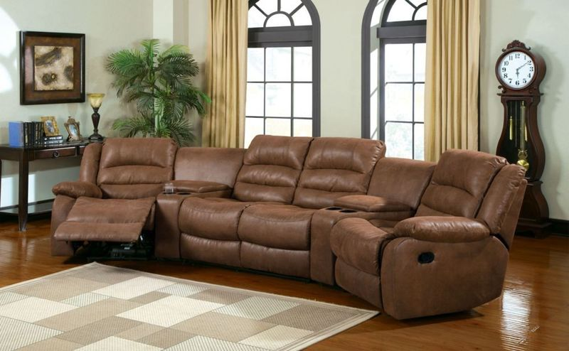 Manchester Reclining Theatre Sectional