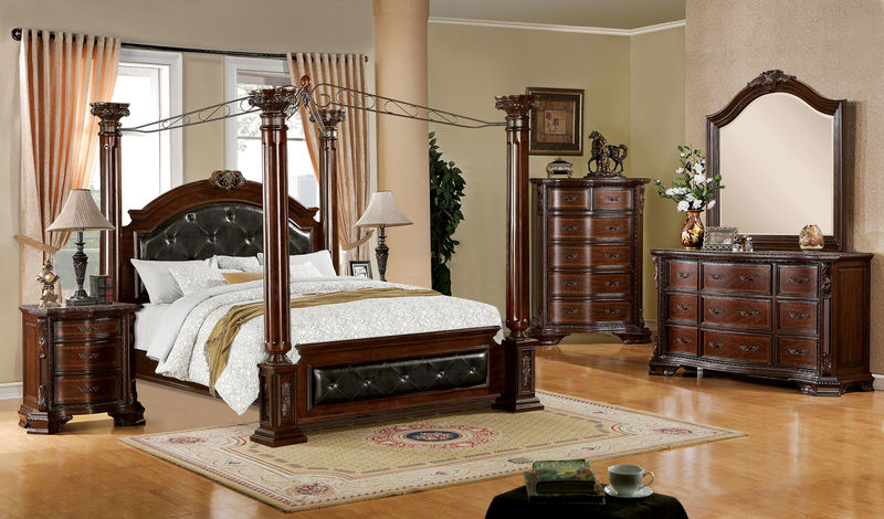 Furniture of America | CM7271 Mandalay Bedroom Set with Canopy Bed | Dallas  Designer Furniture