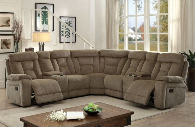 Maybell Reclining Sectional in Mocha