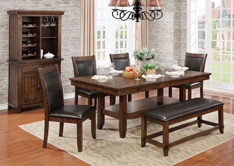Meagan Dining Room Set with Bench