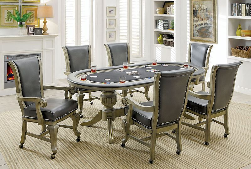 Melina Game Table Set in Gray