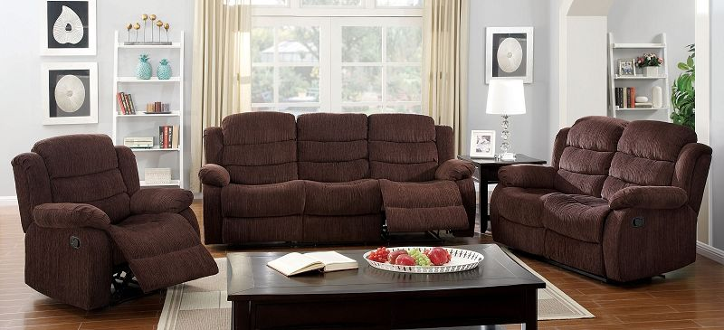 Millville Reclining Living Room Set in Brown