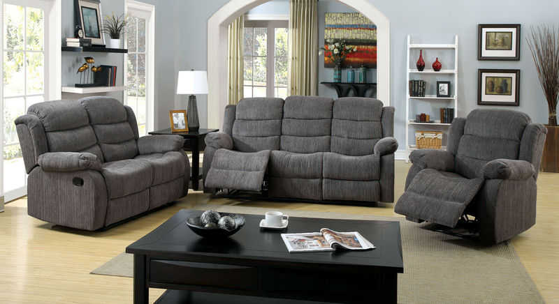 Millville Reclining Living Room Set in Gray