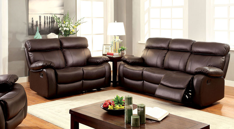 Myrtle Reclining Leather Living Room Set