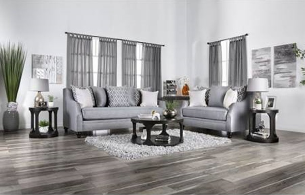 Nefyn Living Room Set in Gray