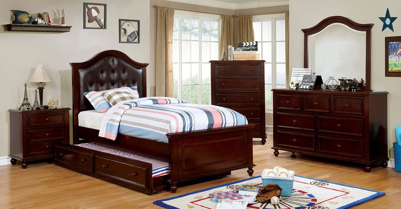Olivia Youth Bedroom Set in Walnut