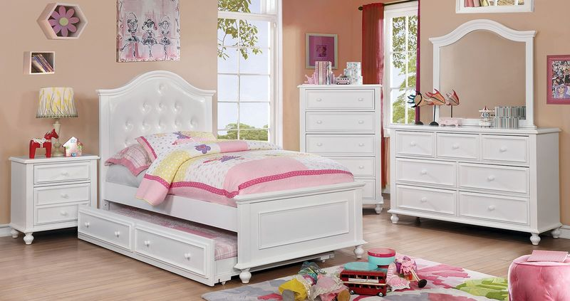 Olivia Youth Bedroom Set in White