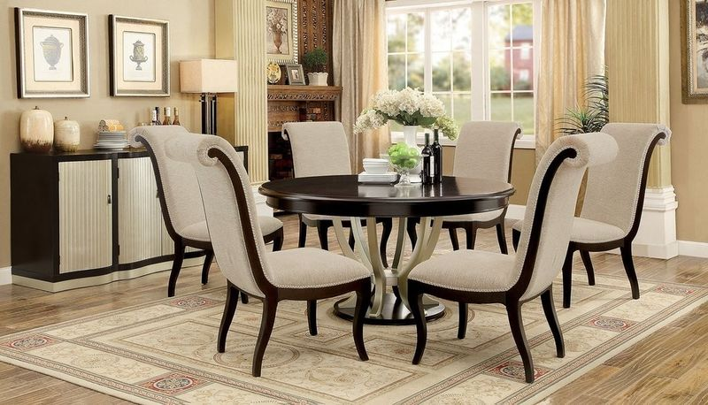 Elegant Round Dining Table Set