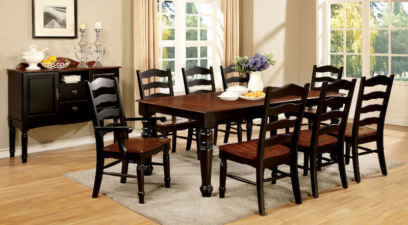 Palisade Dining Room Set in Black/Cherry