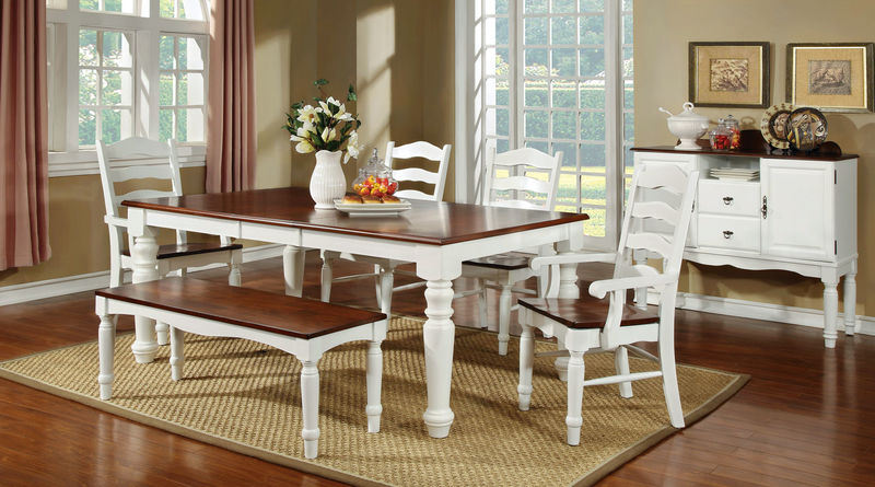 Palisade Dining Room Set in White/Cherry