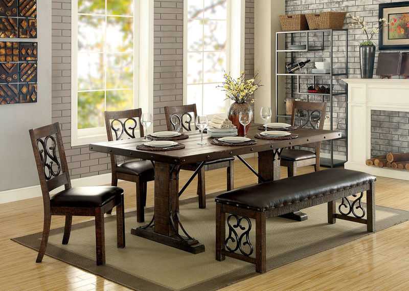 Paulina Dining Room Set with Bench