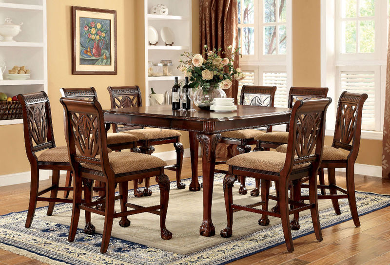 Dallas designer furniture prenzo formal dining room set with rectangular table Dining room furniture dallas