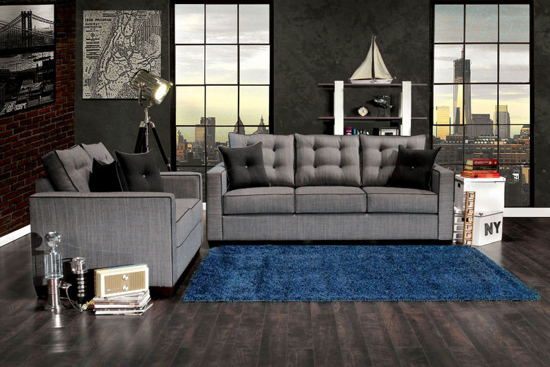 Ravel I Living Room Set in Gray