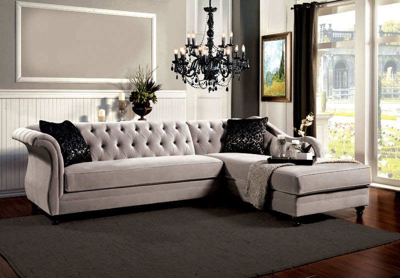 Rotterdam Sectional in Gray