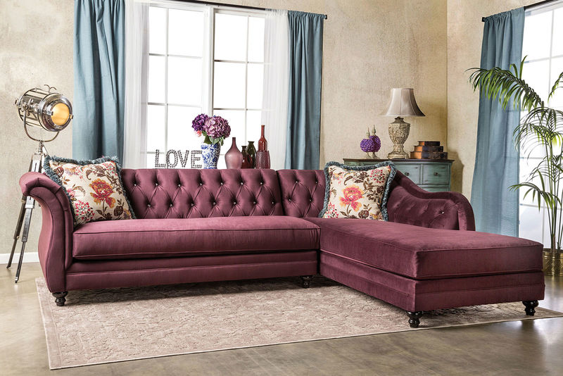Rotterdam Sectional in Plum