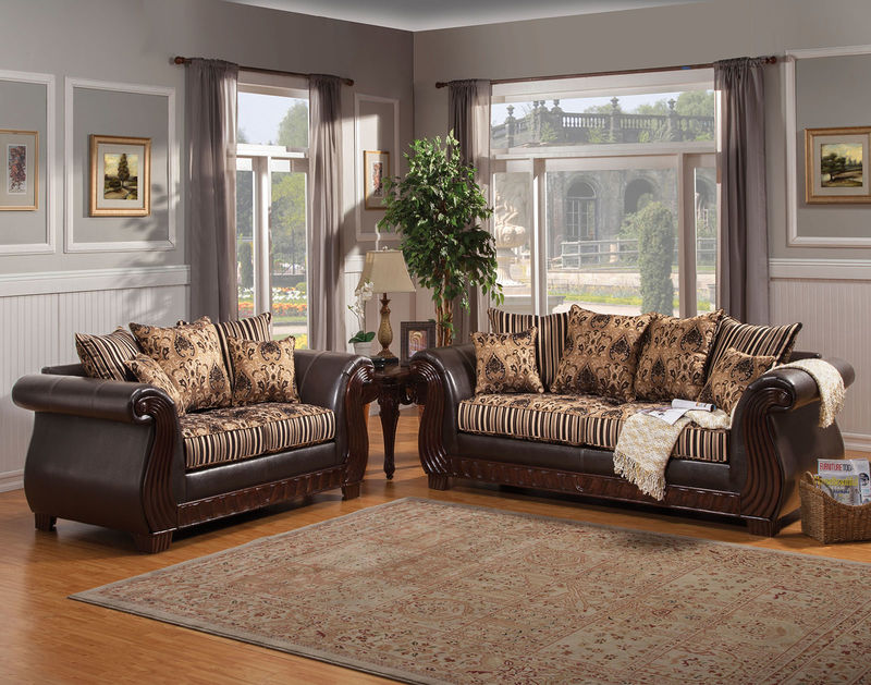 Rutherford Living Room Set in Black