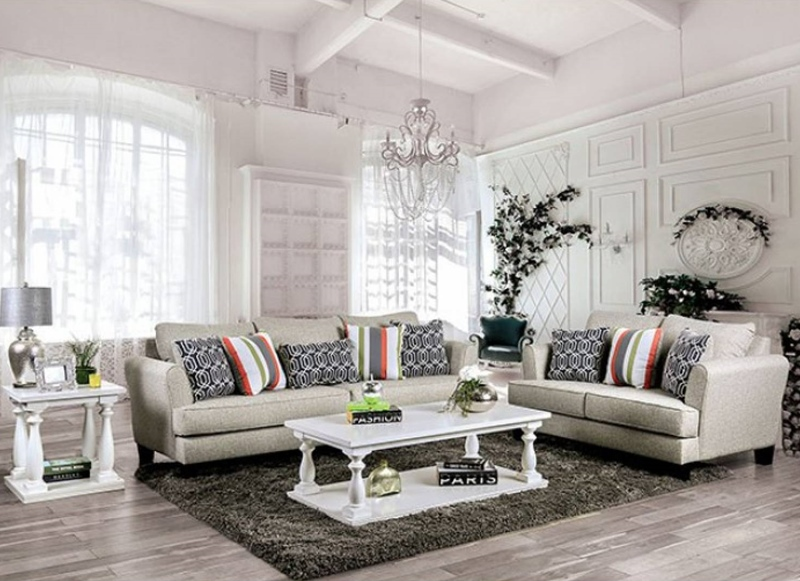 Denbigh Living Room Set in Gray