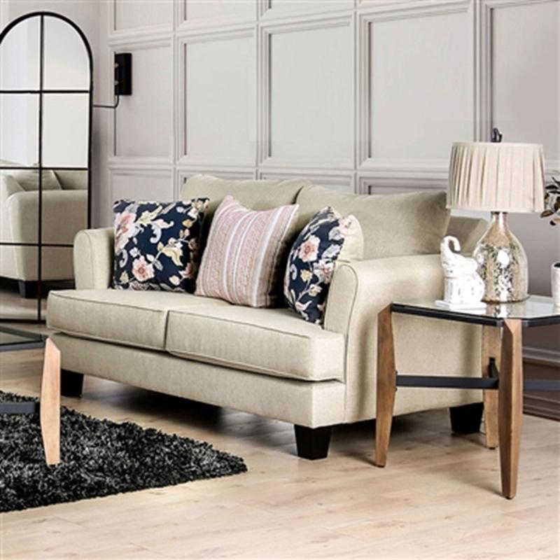 Denbigh Living Room Set in Beige