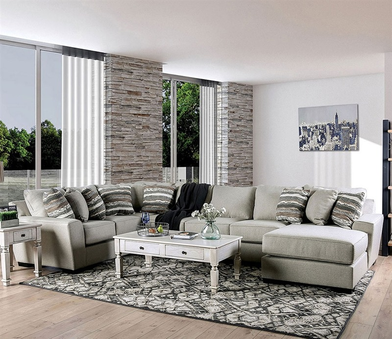 Colstrip Sectional Sofa in Beige
