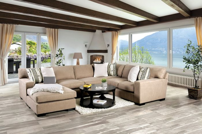 Ferndale Sectional Sofa in Brown
