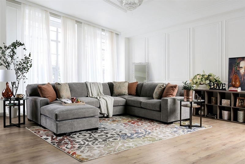 Ferndale Sectional Sofa in Gray