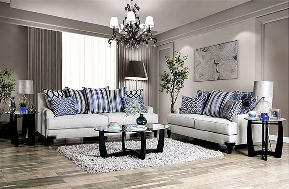 Sisseton Living Room Set in Light Gray
