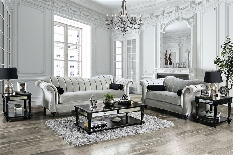 Marvin Living Room Set in Pewter