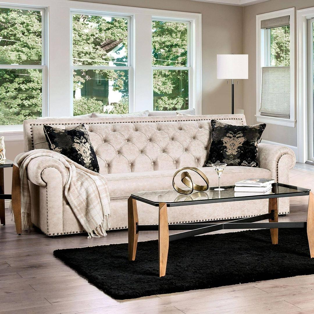 furniture of america  sm2272 parshall beige living room set