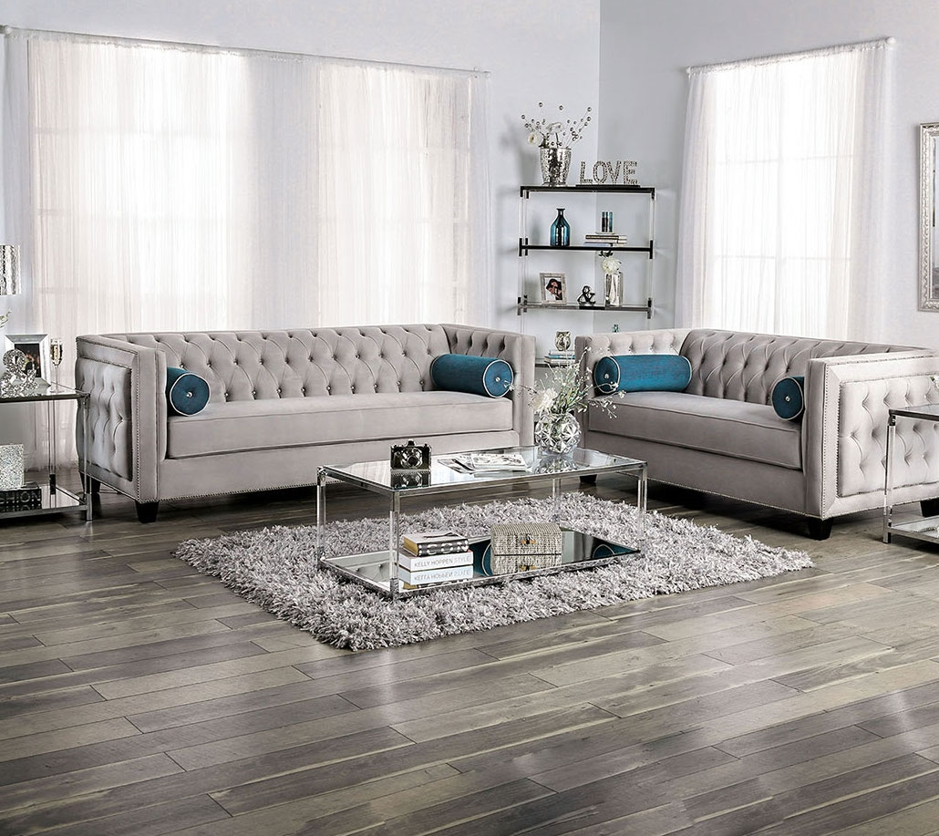 Silvan Living Room Set in Gray