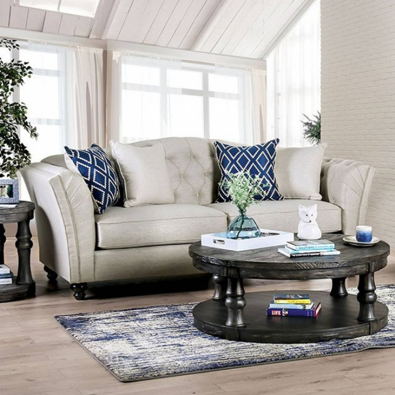 Porth Living Room Set in Ivory