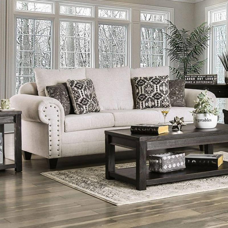 Julian Living Room Set in Ivory