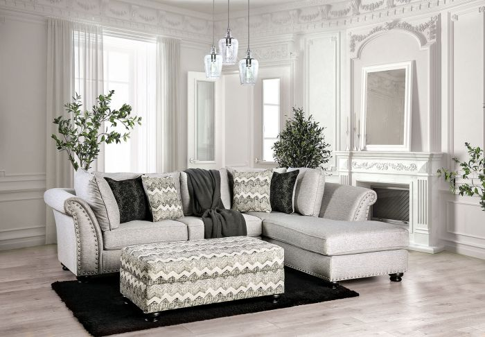 Pasquale Living Room Set in Gray