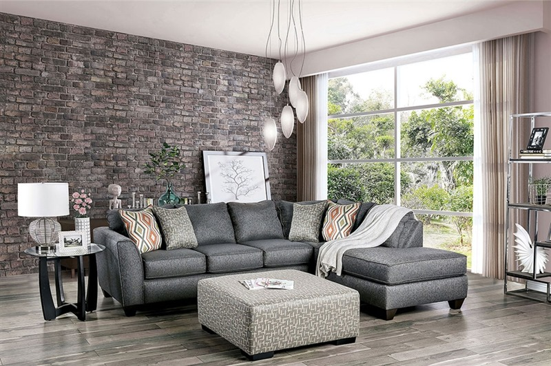 Earl Sectional Sofa in Gray